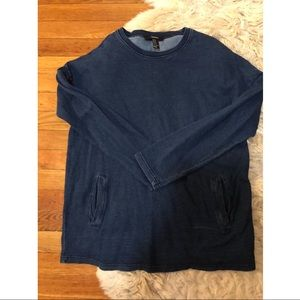 Dark jean sweatshirt pocket top shirt M forever 21